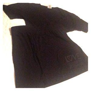 Victoria's Secret pink black nightgown/ coverup